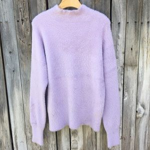 NWT French Connection Edith Knits Sweater Lilac L